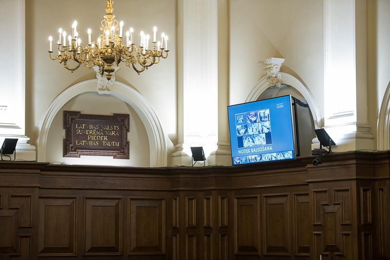 2020.gada 2.aprīlis. Darbs Saeimas sēdē.