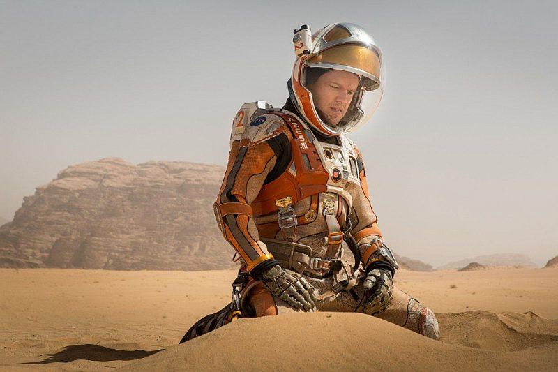 """Kadrs no Ridlija Skota fantastikas filmas """"Marsietis""""."""