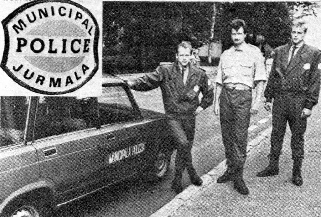 Jūrmalas municipālie policisti 1990. gadā.