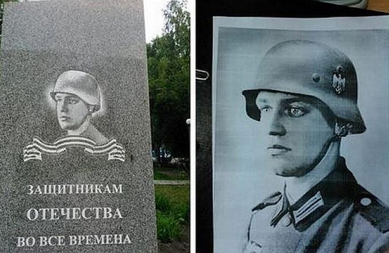 """Vērmahta karavīrs Goldbergs kļuvis par """"Tēvijas aizstāvi"""" Sibīrijas pilsētā Toboļskā."""