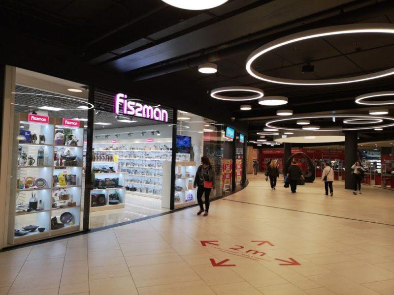 """Durvis vērs jaunais trauku un virtuves piederumu ražotāja """"Fissman"""" veikals."""