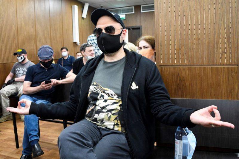 Režisors Kirils Serebreņņikovs Maskavas tiesā.