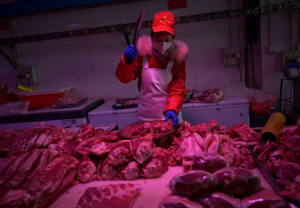 Gaļas tirgus Ķīnā.