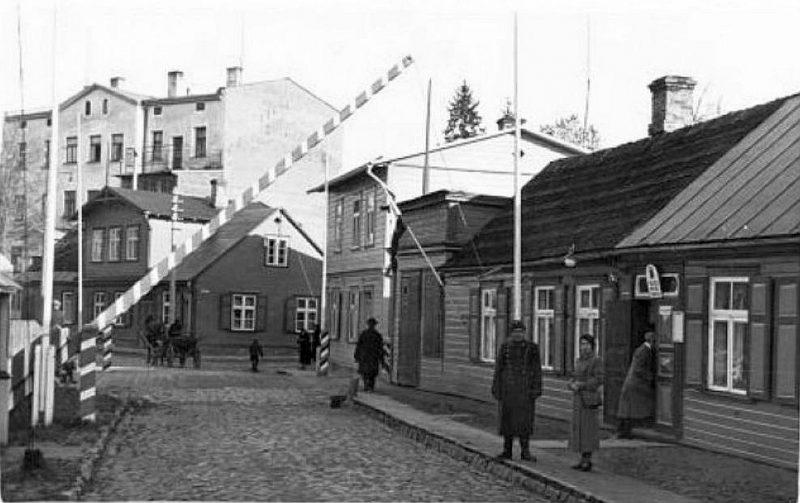 Robeža Valkā 30. gados.