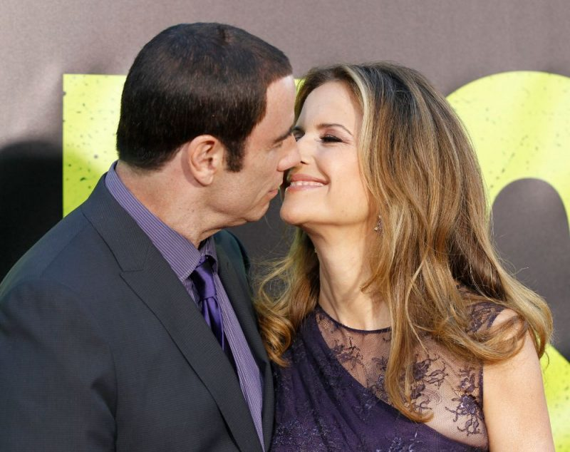 Džonts Travolta ar sievu Kelliju Prestoni.