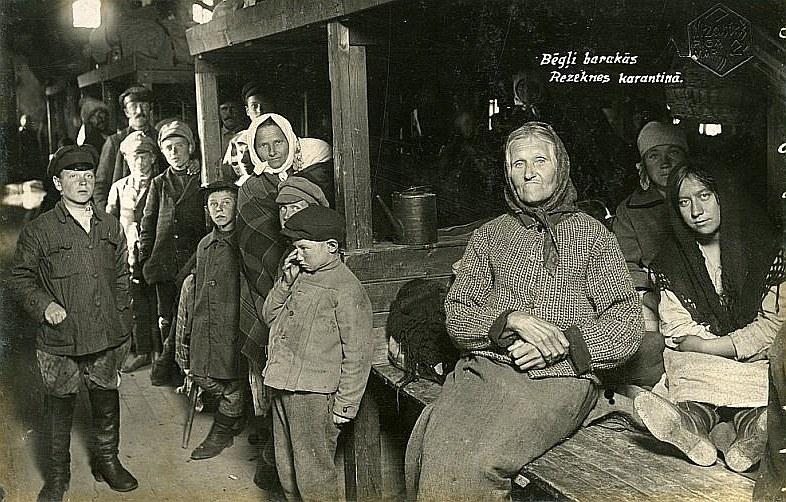 Bēgļi Rēzeknes karantīnā.