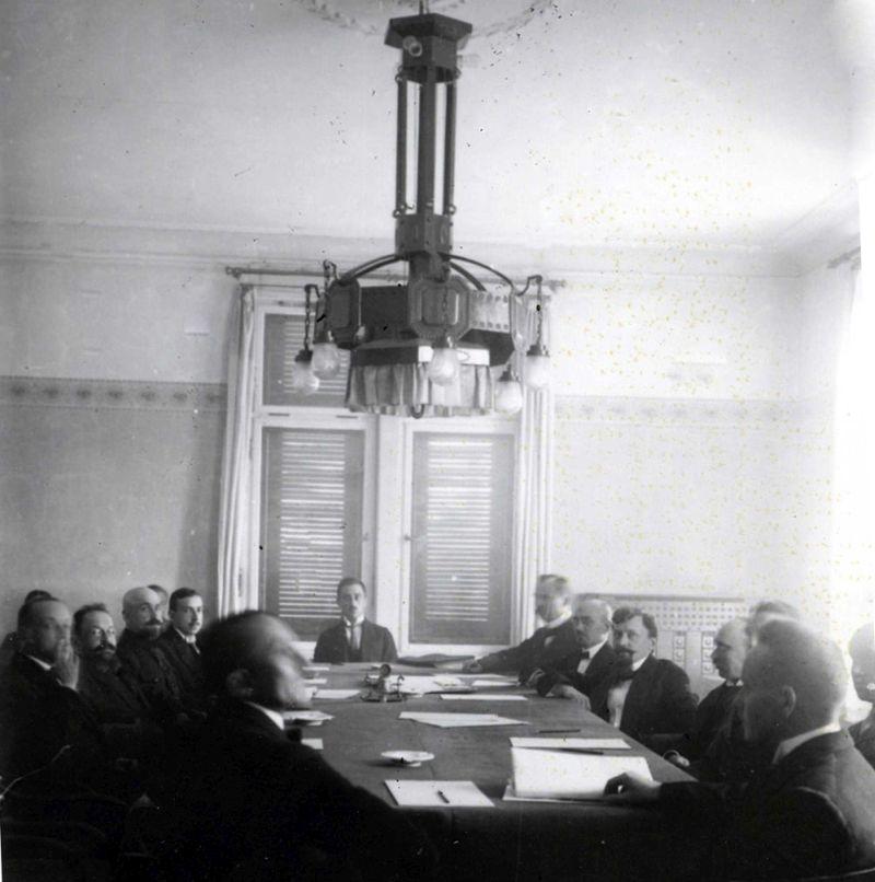 Latvijas – Padomju Krievija miera līguma parakstīšana. Rīga, 1920. gada 11. augusts.