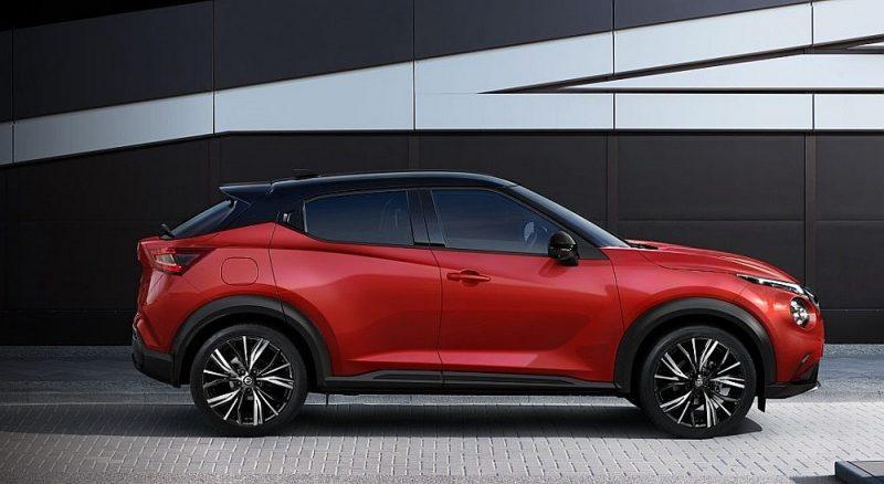 """""""Nissan Juke"""". Viens no trim titula pretendentiem, kuru bāzes cena ir zem 20 000 eiro."""