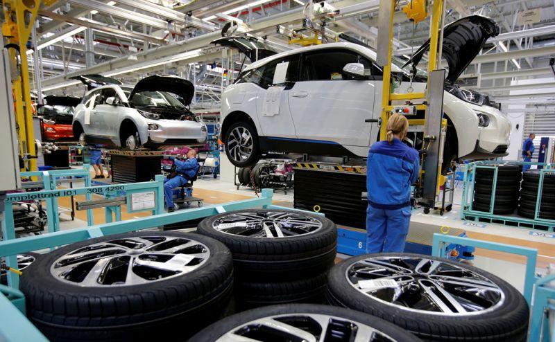 """""""BMW"""" rūpnīca Leipcigā."""