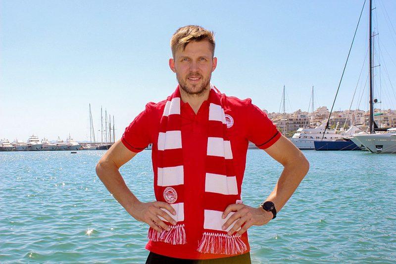 """Hermans Egleskalns pēc četriem gadiem Francijā atgriezies Grieķijas lielklubā Pirejas """"Olympiacos""""."""