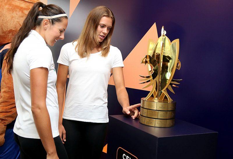 Pirms Eiropas čempionāta izjuka visi Tīnas Graudiņas (no labās) un Anastasijas Kravčenokas plāni.