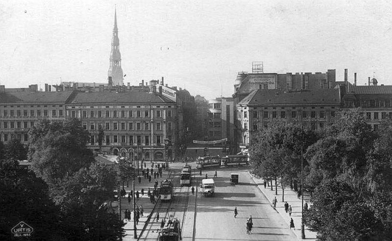 Rīgas centrs 20. gs. 20.–30. gados.