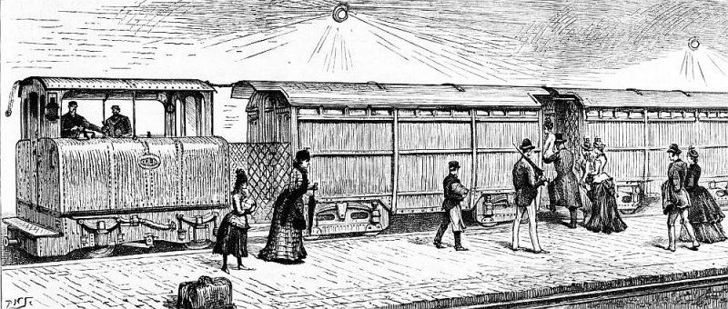 Pirmais Londonas metro.