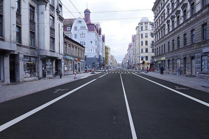 """VAS """"Latvijas valsts ceļi"""" ekspertu saskaņotais Čaka ielas veidols."""