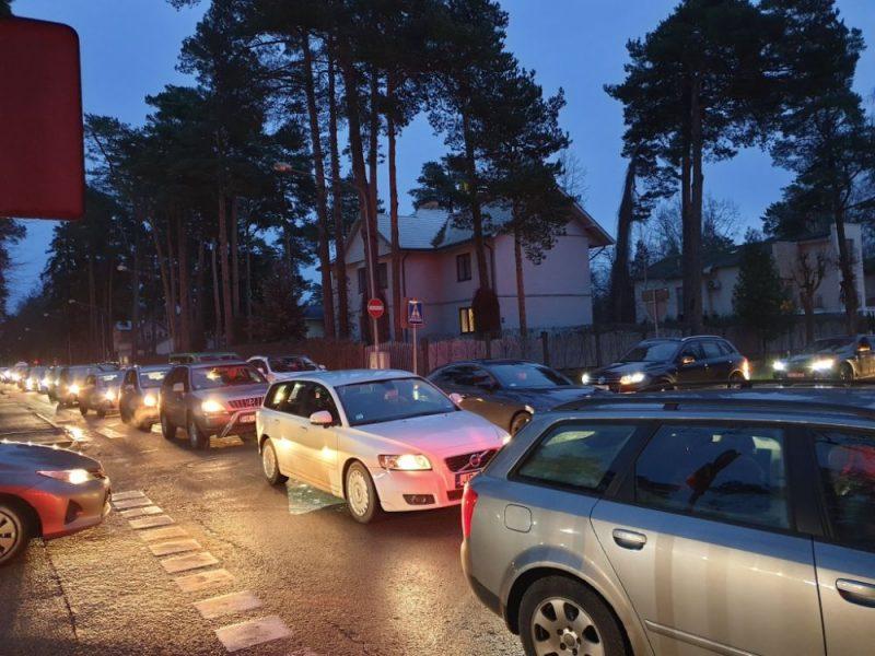 Sastrēgums Jūrmalā
