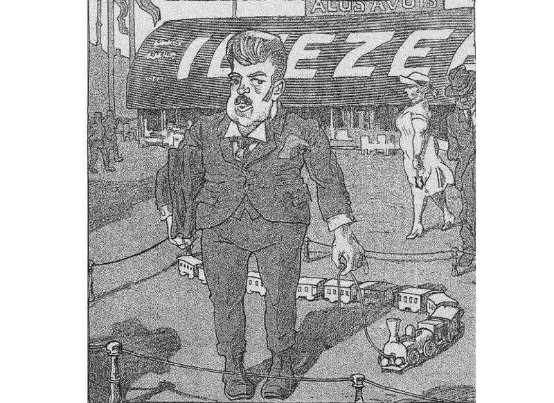 """""""Svaru"""" karikatūra par T. Hermanovska lietu."""