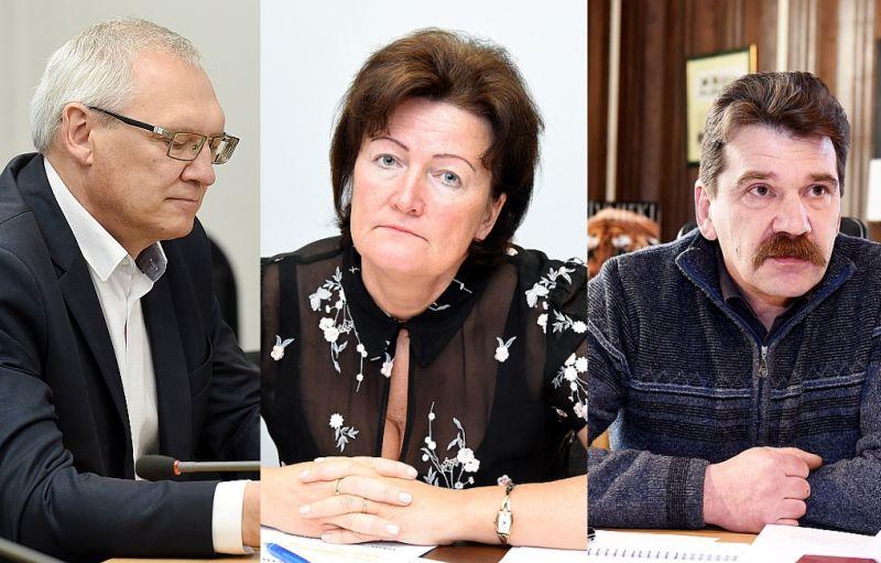 """Bauskas novadā Nacionālās apvienības saraksta līderis varētu būt līdzšinējais Rundāles novada domes priekšsēdētājs Aivars Okmanis (pa kreisi), """"Latvijas attīstībai"""" – bijusī Valsts ieņēmumu dienesta ģenerāldirektore Ināra Pētersone, savukārt ZZS – bijušais Rīgas Zooloģiskā dārza vadītājs un Saeimas deputāts Ingmārs Līdaka."""