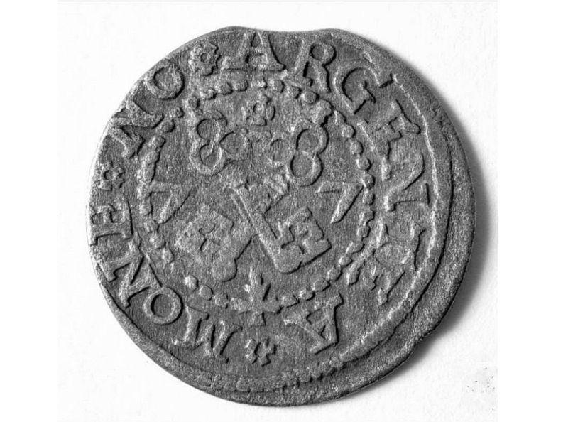Rīgas šiliņš – brīvpilsētas laiku monēta.